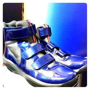 Prada Silver& Blue Moonraker special edition boots
